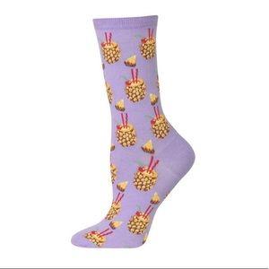 3 for $20. HOT SOX Pineapple Woman's Crew Socks